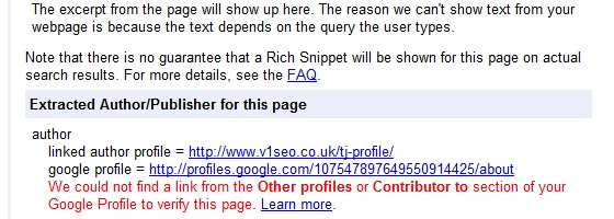 Google rich snipets testing tool updated
