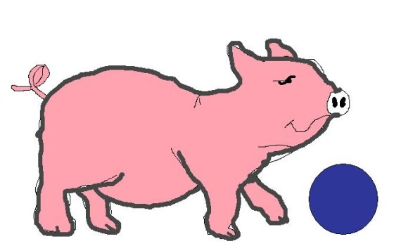 pigs playing football