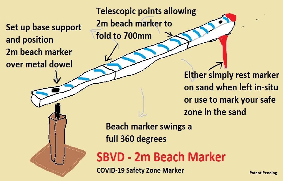 2m Beach Marker