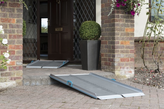 Wheelchair ramp for front of property