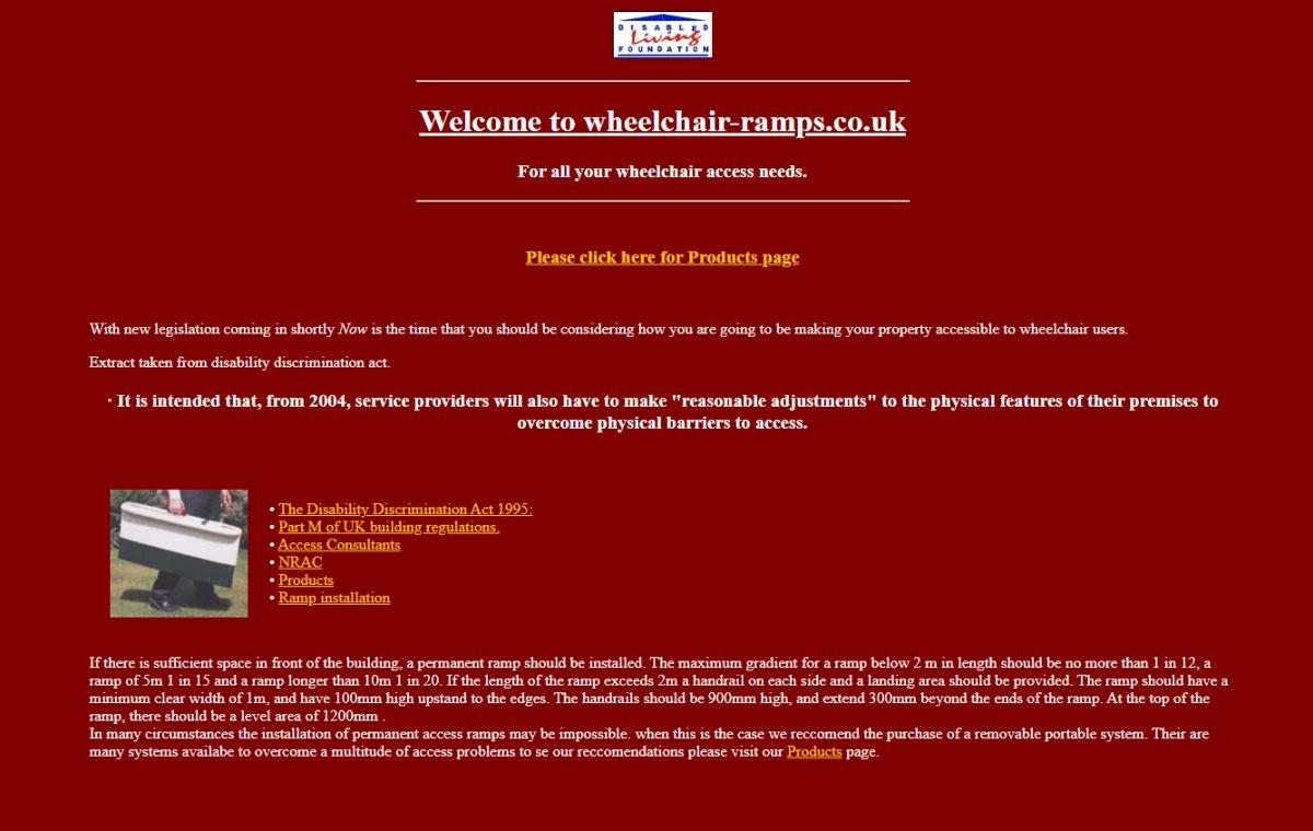 wheelchair ramps website