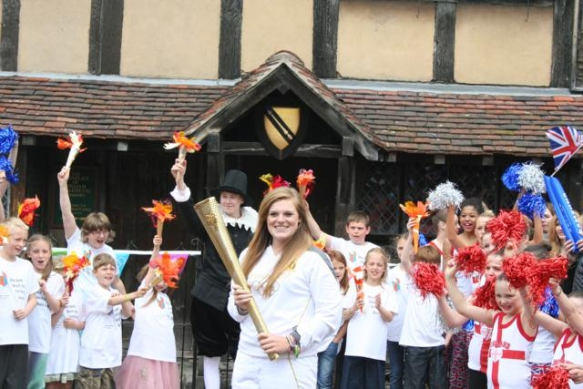 Olympic Torch Shakespeares Birthplace