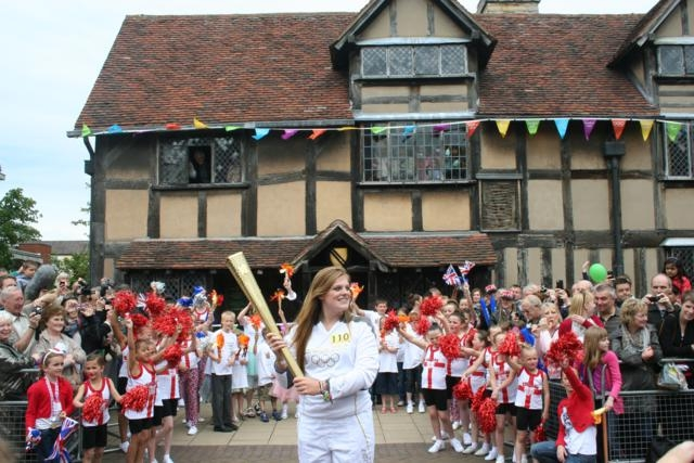 Olympic Torch Relay Shakespeares Birthplace