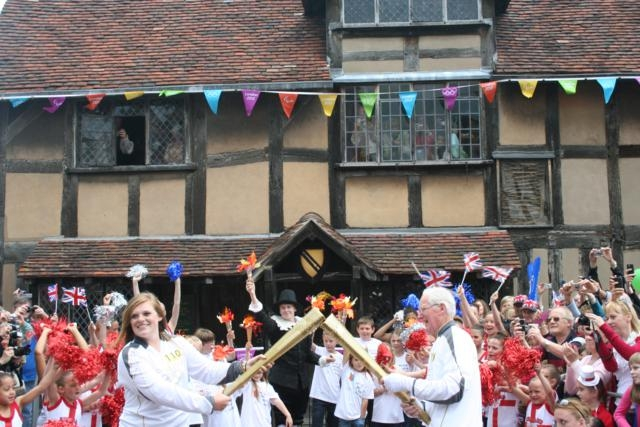 Olympic Torch Relay Shakespeare's Birthplace